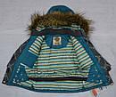 Куртка зимняя для девочки серо-зеленая (QuadriFoglio, Польша), фото 6