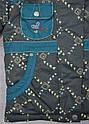Куртка зимняя для девочки серо-зеленая (QuadriFoglio, Польша), фото 4
