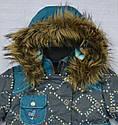 Куртка зимняя для девочки серо-зеленая (QuadriFoglio, Польша), фото 2