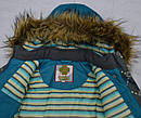 Куртка зимняя для девочки серо-зеленая (QuadriFoglio, Польша), фото 7