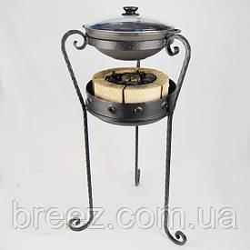 Кованый комплект для приготовления на углях Жаровой жаровня ВОК чугун