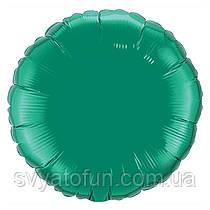 """Фольгированный шар круг зеленый 18"""" 401500VE Flexmetal"""