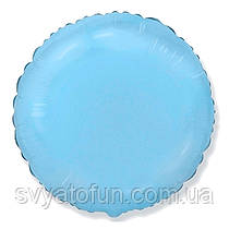 """Фольгированный шар круг голубой  18"""" 401500AB Flexmetal"""