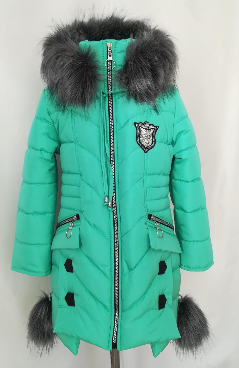 Зимняя курточка для девочки   от производителя  34-44 бирюзовый