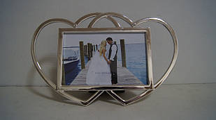 Фоторамка з серцями металева