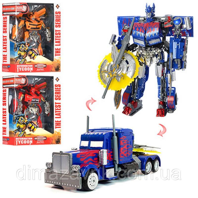 Трансформер 9988ABC 32 см, робот+машинка, звук, свет, на бат (табл), 3 цвета, в коробке 35-45-15 см