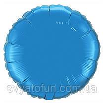 """Фольгированный шар круг синий 18"""" 401500A Flexmetal"""