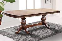 Большой раздвижной, обеденный стол -Граф из массива дерева (цвет - орех)