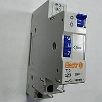 Таймер Т15 лестничный 16А 230В на DIN-рейку / Таймер сходинковий Т15 електромеханічний 16А  230В на DIN-рейку