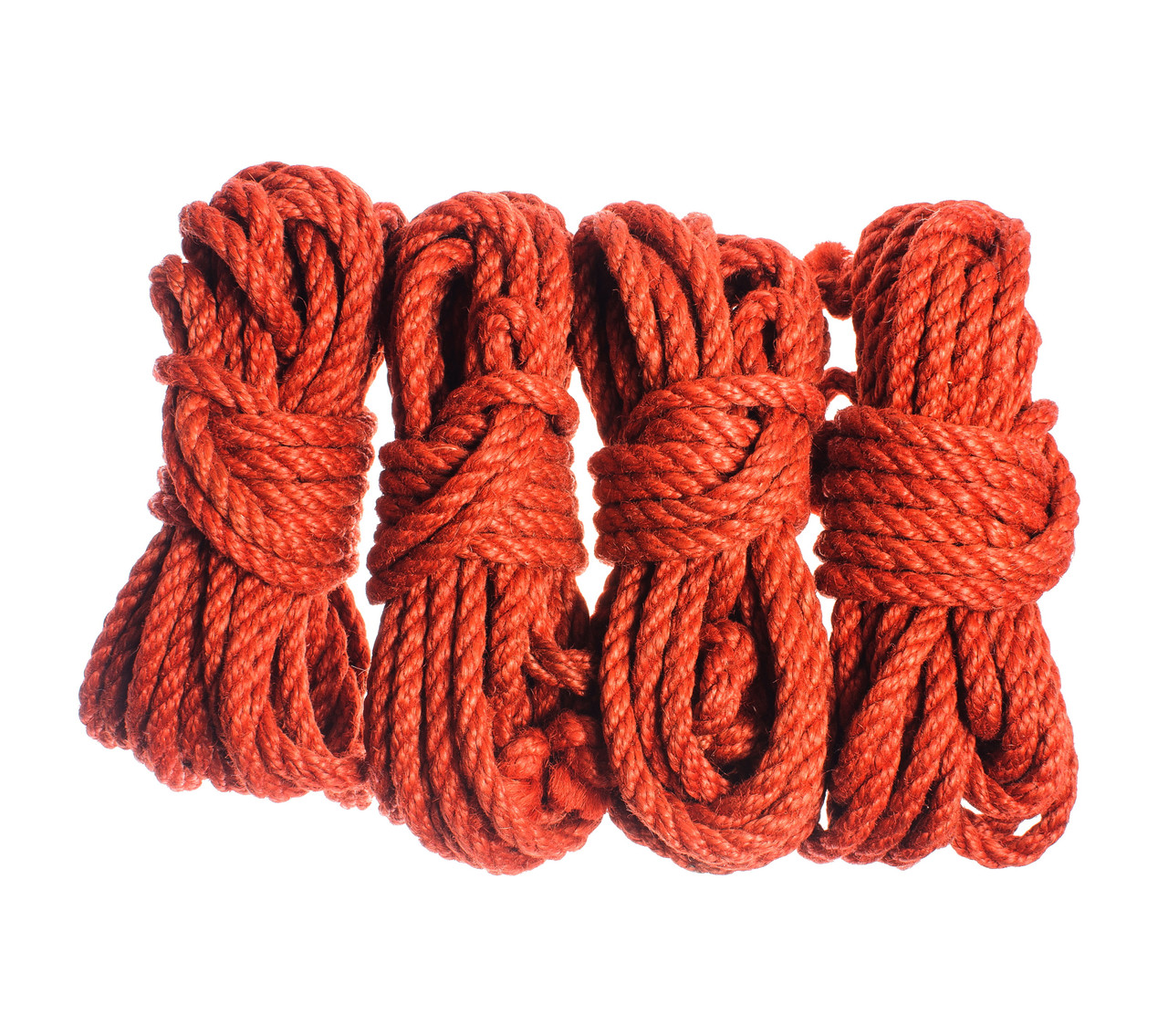 Набор веревок для шибари 4х8м. 8мм, БДСМ наборы, джут.красная