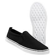 Мокасины Brandit Southampton Slip BLACK-WHITE 45 Черный (9041.99)