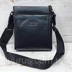 Мужская кожаная сумка мессенджер  Hugo Boss