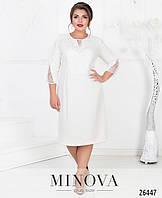 Элегантное двухслойное платье с 52 по 60 размер, фото 1