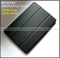 Ультратонкий чехол книжка Huawei Mediapad T5 10 AGS2-L09 AGS2-W09 черный