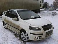 Реснички на фары Chevrolet Aveo T250 (ZAZ Vida) стеклопластик (под покраску) Orticar