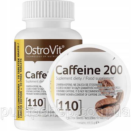 Кофеин Ostrovit Caffeine 200 Limited Edition 110 таб., фото 2