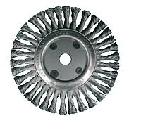 Дисковая щётка OSBORN D115x13 мм, жгутовая стальная проволока 0,35 мм