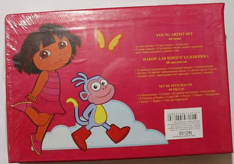 """Набор для детского творчества """"Dora"""" (68 предметов) чемодан, фото 2"""