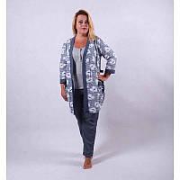 Халат и пижама женская, теплый комплект.