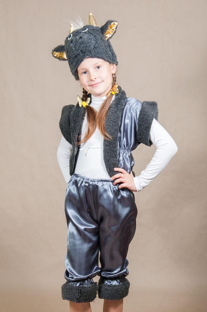 Детский карнавальный костюм БАРАШЕК, СЕРАЯ ОВЕЧКА, ЧЕРТИК  на 5,6,7 лет новогодний маскарадный костюм 324