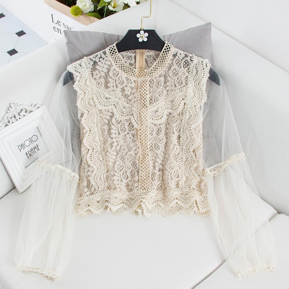 Кружевная блуза для девушек