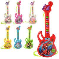 Гитара детская FR, 29см, муз, 7 видов(FR,DPS,НК,СБ,СП,Б10) на батарейке в кульке