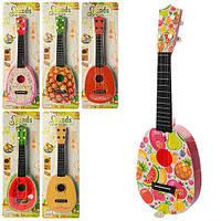 Гитара детская 41см, струны 4шт, медиатор, 7 видов на листе