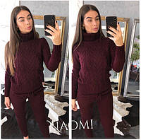 Костюм вязаный женский теплый свитер под горло и штаны разные цвета Dp1220 830c8bcbf8b