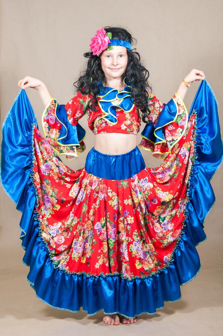 Детский карнавальный костюм ЦЫГАНКА , ЦЫГАНОЧКА на 8,9,10,11 лет новогодний маскарадный костюм ЦЫГАНКИ 329