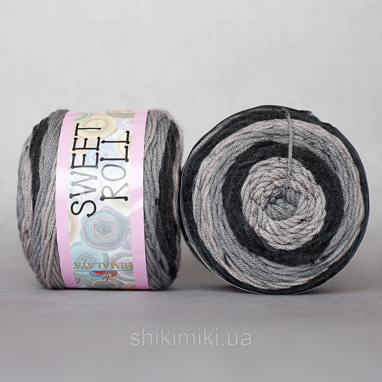 Пряжа  секционная Sweet Roll, цвет Черно-серый