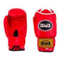 Боксерские перчатки BWS ClubStar, 8oz,10oz,12oz, красный