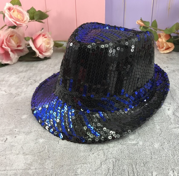 Шляпа диско шляпа Твист с пайетками  ЦВЕТА РАЗНЫЕ