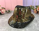 Шляпа диско шляпа Твист с пайетками  ЦВЕТА РАЗНЫЕ, фото 2