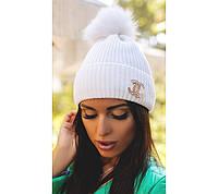 """Зимняя женская шапка """"Chanel"""". Распродажа модели"""