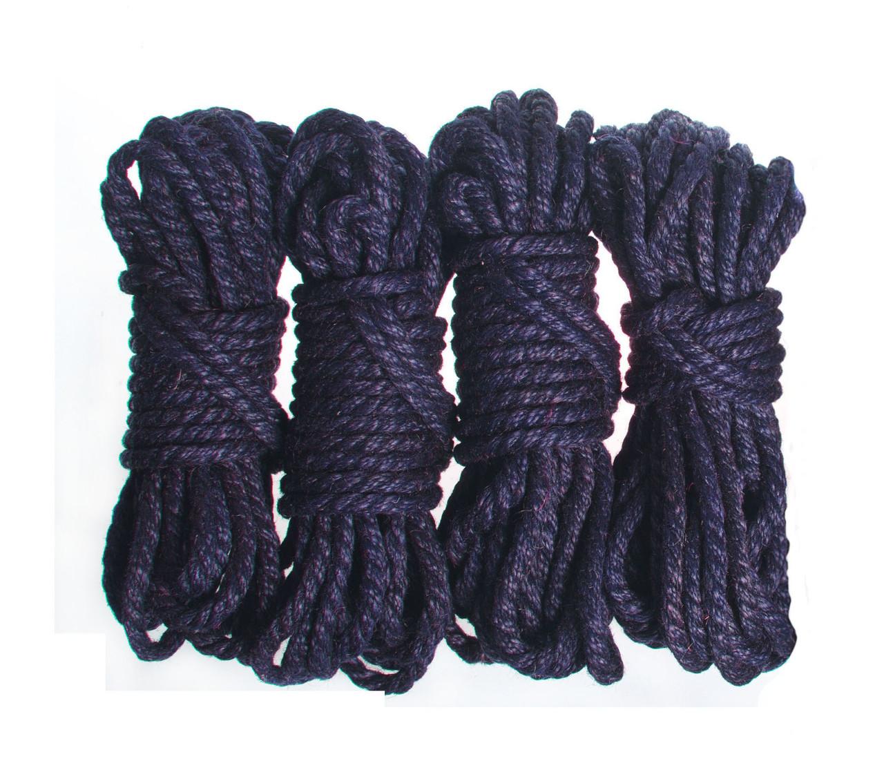Веревка для шибари, т. синий 6мм/8м, джут