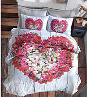 Постельное белье 200х220 Cotton Box ранфорс Floral Seri 3D Garden Vizon