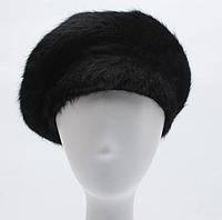Зимний женский берет черного цвета