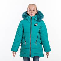 "Зимняя куртка для девочки ""Кристина"" (мята) 8-11 лет"