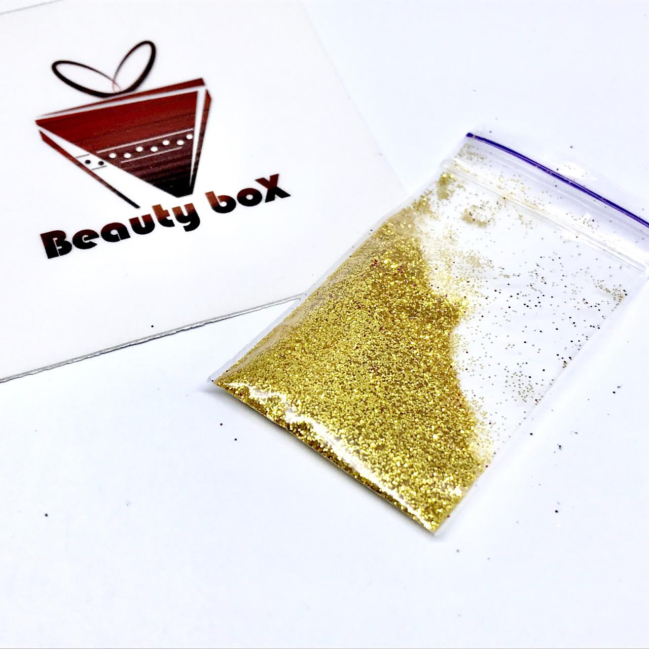 Глиттер золото (3 грамма)