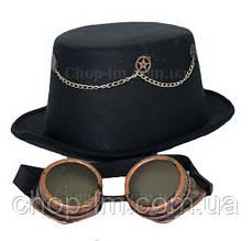 Шляпа цилиндр в стиле стимпанк, головной убор