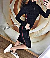 """Женское теплое платье - гольф """"Gucci"""" удлиненное 42-46р цвета в ассортименте, фото 1"""