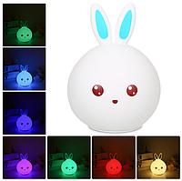 Ночник ,,Милый зайчик,,  LED лампа, светильник силиконовый.