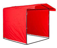 Торговая палатка на каркасе 1,5х1,5м. цвет красный