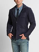 Синий мужской пиджак LC Waikiki / ЛС Вайкики с накладными карманами, на 2 пуговицах, фото 1