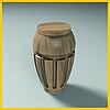 Ножка точеная круглая резная из дерева для тумб, кресел и шкафов. Опора корпусной мебели. 100 мм.