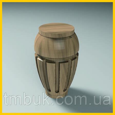 Ножка точеная круглая резная из дерева для тумб, кресел и шкафов. Опора корпусной мебели. 100 мм., фото 2