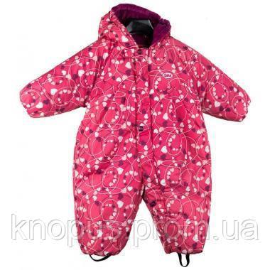 Зимний сдельный  термокомбинезон  для девочки Salve by Gusti, розовый