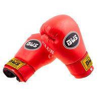 Боксерские перчатки CLUB BWS, PVC, 12oz, красный. Распродажа