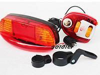 Задній велосипедний ліхтар LED стоп +Гудок+ задній покажчик повороту, фото 1