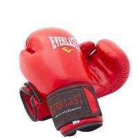 Боксерские перчатки Ever 3Strap, кожа, 8, 10 ,12oz, красный